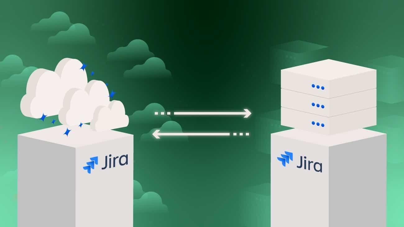 jira cloud to server
