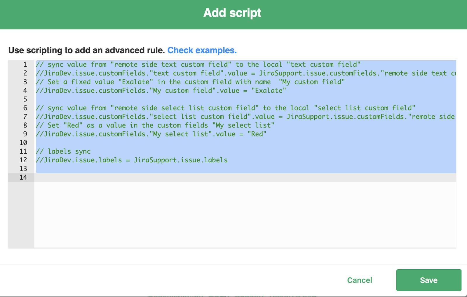 add scripting to jira integration