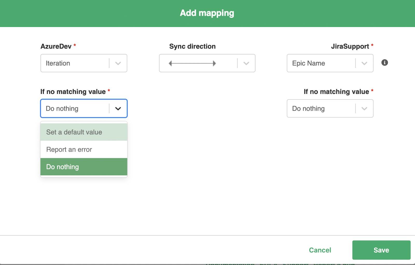 add mapping to jira azure devops sync