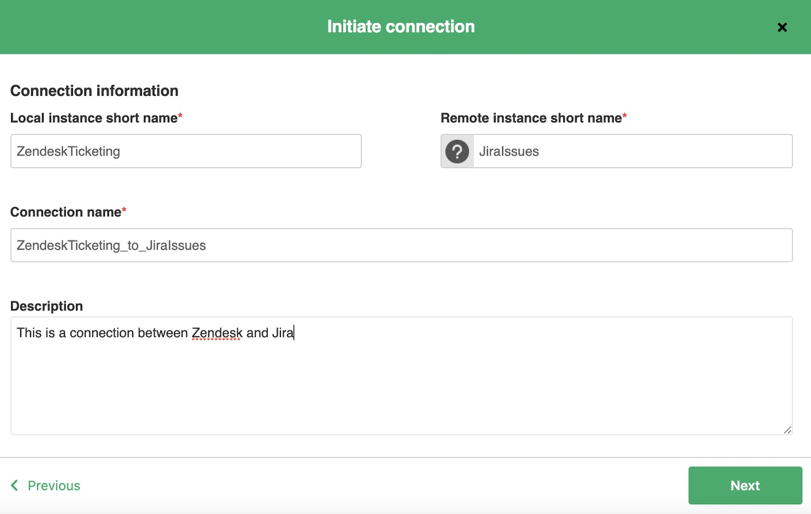 initiate zendesk to jira connection