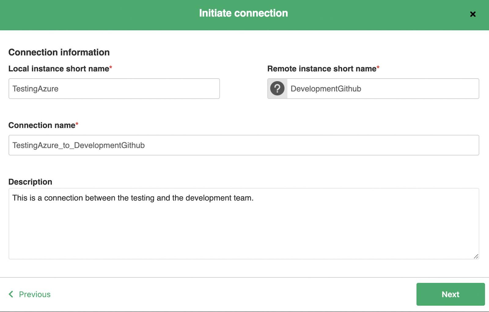 initiate GitHub azure devops connection