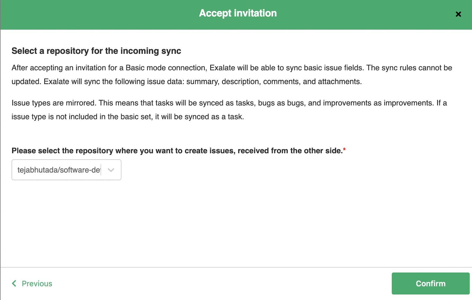 accept a jira GitHub sync invitation