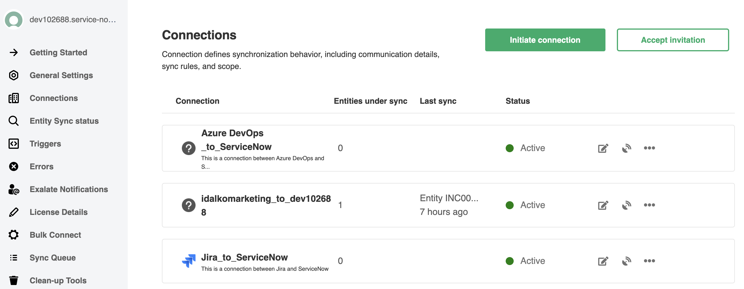 Accept invitation on the ServiceNow instance